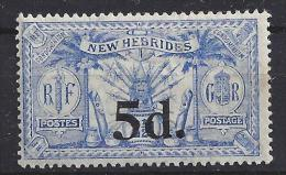 #6 -  NOUVELLES HEBRIDES -    N° 79 - NEUF ** - Légende Anglaise