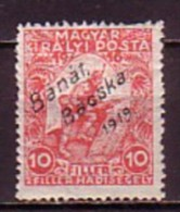 HONGRIE / Banat Bacska - 1919 - Timbres De Hongrie Surcharge - 10 + 2 Fi.* Mi. 3 - Banat-Bacska