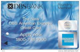 Singapore Subway Bus Ticket Farecard 'American Express' Used - U-Bahn