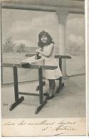 Petit Fille Repassant Le Linge Repassage Ironing 1904 - Jeux Et Jouets
