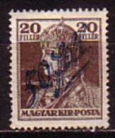 HONGRIE / TEMESVAR - Okupation Serbe - 1919 - Timbres De Hongrie Surcharge -  50/20 Fi. + 2 Fi.* Mi 4 - Temesvár