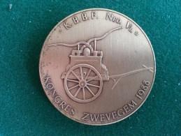 Brandweer, K.B.B.F. Ned. Vl. Kongres Zwevegem, 1988, 33 Gram (medailles0221) - Belgium