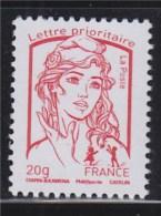 Marianne Et La Jeunesse Gommé Faciale Lettre Prioritaire -20g  N° 4767 Rouge Neuf Ciappa Et Kawena - 2013-... Marianne De Ciappa-Kawena
