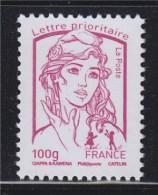 Marianne Et La Jeunesse Gommé Lettre Prioritaire -100g France  N° 4772 Fuschia Neuf - 2013-... Marianne De Ciappa-Kawena