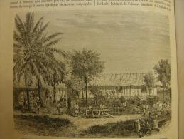 GABON  - Etabilissement De La Mission Catholique  Au Gabon-Dr. Griffon Du Bellay - Marine -  Engraving 1865  TdM1865.239 - Prenten & Gravure