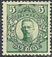 ZWEDEN 1910-14 5õre Groen Gustav  V WM Kroon PF-MNH-NEUF - Neufs