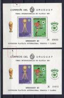 Uruguay 1981 _ Mi BL 51 A + B - FIFA Spain 1982 , Football Soccer - New MNH ** - World Cup