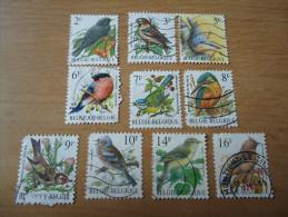 Belgien:  10 Werte Vögel - Belgien