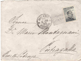 1906 CENT.15 CON ANN. TARGHETTA ESPOSIZIONE MILANO E RETRO ANN.PIETRAGALLA POTENZA - 1900-44 Victor Emmanuel III
