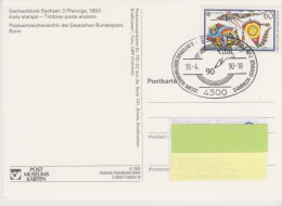 Germany Mi 1417 C.E.P.T.- Toys On Card With Special Cancellation - International Stamps Exhibition Essen - [7] West-Duitsland