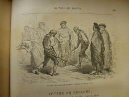 Espana - Gustave Doré - GRENADE - Un Duel A La Navaja Del Santolio    Engraving 1865 TdM1865.280 - Estampas & Grabados