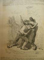 Espana - Gustave Doré - GRENADE - L'escrime A La Navaja : Le Desjarretazo   Engraving 1865 TdM1865.281 - Estampas & Grabados