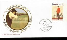 MONTREAL OLIMPIC GAME  1976 TIRO AL PIATTELLO SHOOTING ANNULLO SPECIALE - Tiro (armi)