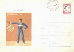 INTERO POSTALE POSTA ROMANA OLIMPIADE MONTREAL 1976 TIRO CON LA PISTOLA - Tiro (armi)