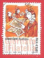ITALIA REPUBBLICA USATO - 2012 - Giornata Della Filatelia - Commissione Filatelica - € 0,60 - S. 3353 - 2011-...: Usados