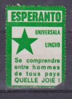 (EGl) Label - Glumarko - Esperanto World Language - Monda Lingvo From France - Esperanto