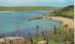 BF13596 New Grimsby Harbour Tresco Scilly United Kingdom Front/back Image - Scilly Isles