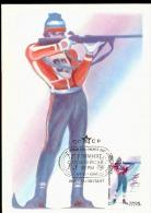 BIATHLON - OLIMPIADI INVERNALI 1988 CON ANNULLO SPECIALE URSS - Tiro (armi)