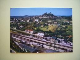 CPM  GOURDON - 46 - Vue Générale Aérienne - Au Premier Plan, La Gare - Lot - - Gourdon