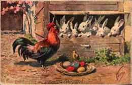Illustrateur Feiertag - BKWI 4700-4, Pâques, Coq Oeufs Lapins - Feiertag, Karl