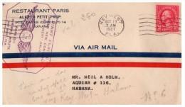 1927, LETTRE USA,  FIRST FLY COVER, KEY-WEST--HAVANA /4551 - Stati Uniti