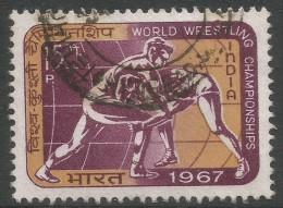 India. 1967 World Wrestling Championships New Delhi. 15p Used. SG 555 - India