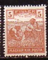 UNGARN / HONGRIE - 1916 - Serie Courant - 5 Fi ** Mi 192 - Nuevos