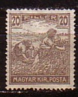 UNGARN / HONGRIE - 1916 - Serie Courant - 20 Fi * Mi 196 - Nuevos