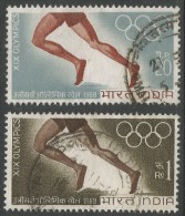India. 1968 Olympic Games, Mexico. Used Complete Set. SG 569/70 - India