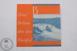 Hotel Bellevue über Dem Rheinfall - Germany - Original Hotel Luggage Label - Sticker - Hotel Labels