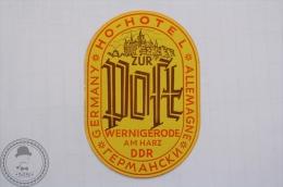 Ho Hotel Zur Post Wernigerode Am Harz DDR - Germany - Original Hotel Luggage Label - Sticker - Hotelaufkleber