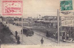 LYON-AVIATION : 1910 - Entrée Du Vlillage Des Brosses  - Tramway - Vignette Commémorative - Other