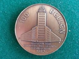 100 Bellen, Koninklijke Bell Telephone Personeelsklub, 1982, 16 Gram (medailles0283) - Belgium