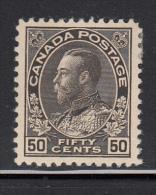 Canada MH Scott #120a 50c George V Admiral Issue, Black, Wet Printing - 1911-1935 Règne De George V