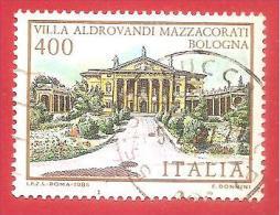 ITALIA REPUBBLICA USATO - 1985 - Ville D´Italia - 6ª Emissione - Villa Aldrovandi Mazzacorati Bologna -  £ 400 - S. 1733 - 6. 1946-.. Republic