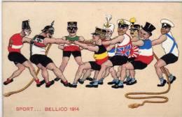 Sport ... Bellico 1914 - Caricatures Militaires Et Politiques     (67975) - 1900-1949