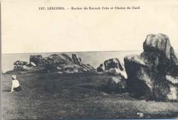 CPA Lesconil  Rocher De Kareck Crès Et Chaise Du Curé - Lesconil