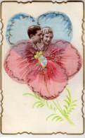 Carte Artisanale Avec Ajoutis : Photo, Ruban , Paillettes.....peinte Main   (67979) - Fancy Cards
