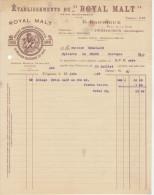 """Dordogne, Périgueux, Ets. Du """"Royal Malt"""" E. Garrigue  + Mandat  (2 Scans)1930 - Alimentaire"""