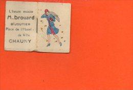 Calendrier Petit Format - Année 1932 - Publicité Pour La Bijouterie M.Drouard , Place De L'hotel De Ville CHAUNY - Calendriers