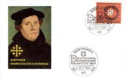 """Germany Germania 1963- Dortmund  """"Deutscher Evangelischer Kirchentag"""" Cartolina FDC (AG101) - [7] Repubblica Federale"""