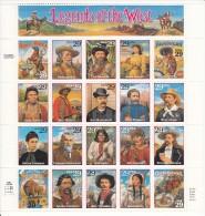 USA MNH Scott #2869 Sheet Of 20 Different 29c Legends Of The West - Indiens D'Amérique