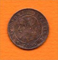 Napoléon III, Tete Nue -  1 Ct De 1856 K   Cat Gadoury N° 86     Usure,tache - Francia