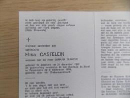 Doodsprentje Elisa Castelein Beselare 31/12/1908 Passendale 5/9/1999 ( Gerard Blancke ) - Religion & Esotericism