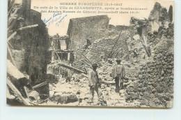 GUERRE EUROPENNE 1914-18  -un Coin De La Ville De Czernowitz,après Bombardement Des Russes. - Ukraine