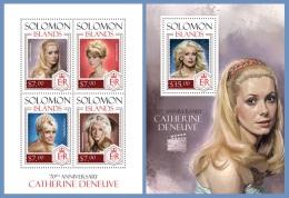 slm14202ab Solomon Is. 2014 Cinema Catherine Deneuve 2 s/s