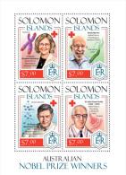 slm14207a Solomon Is. 2014 Nobel prize winners Red Cross Medicine s/s
