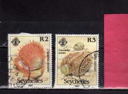 SEYCHELLES 1987 MARINE FAUNA FISHES MARINA PESCI USATI USED - Seychelles (1976-...)