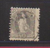 Suisse // N 75 //  40 Centimes Gris - Suisse