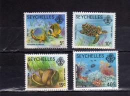 SEYCHELLES 1982 - 1988 MARINE FAUNA FISHES MARINA PESCI MNH - Seychelles (1976-...)